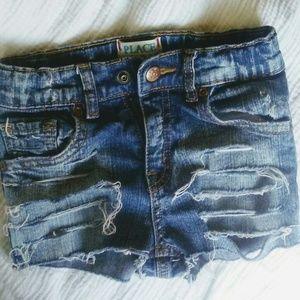Toddler girls 4 distressed shorts denim